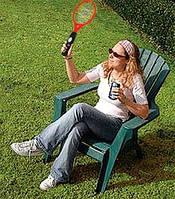 Ракетка мухобойка с фонариком