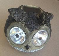 Сова ушастик светильни на солнечной батарее Садовые фигуры CAB 128 Lemanso