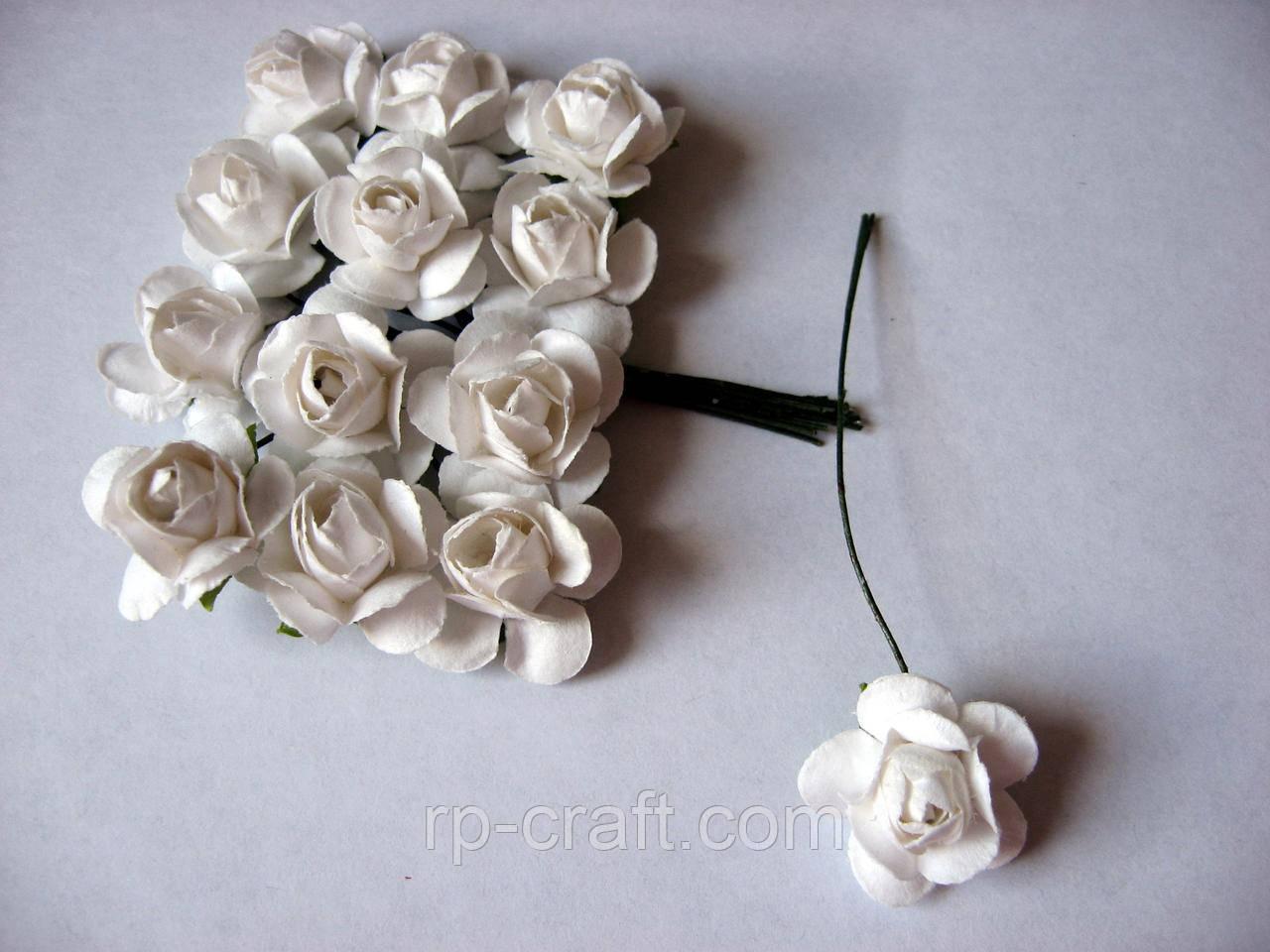 Роза из бумаги.Белая, 23 мм