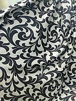Двусторонняя портьерная ткань с вензелями, блэкаут, фото 1