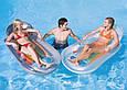 Пляжный надувной шезлонг - кресло Intex 58857, 155*97*20 см, серый, фото 2