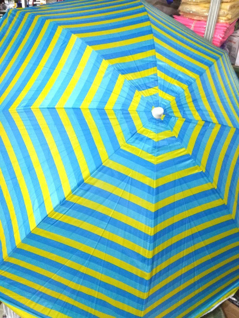 Зонт пляжный торговый садовый диаметр 2 метра  с серебрением спица металлическая D2.0m 085