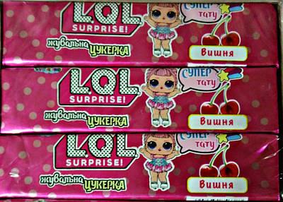LOL жувальна цукерка ( зі смаком вишні + тату)