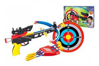 Арбалет детский 35881K со стрелами + мишень, лук