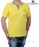 Футболка мужская летняя Burberry-9072 желтая