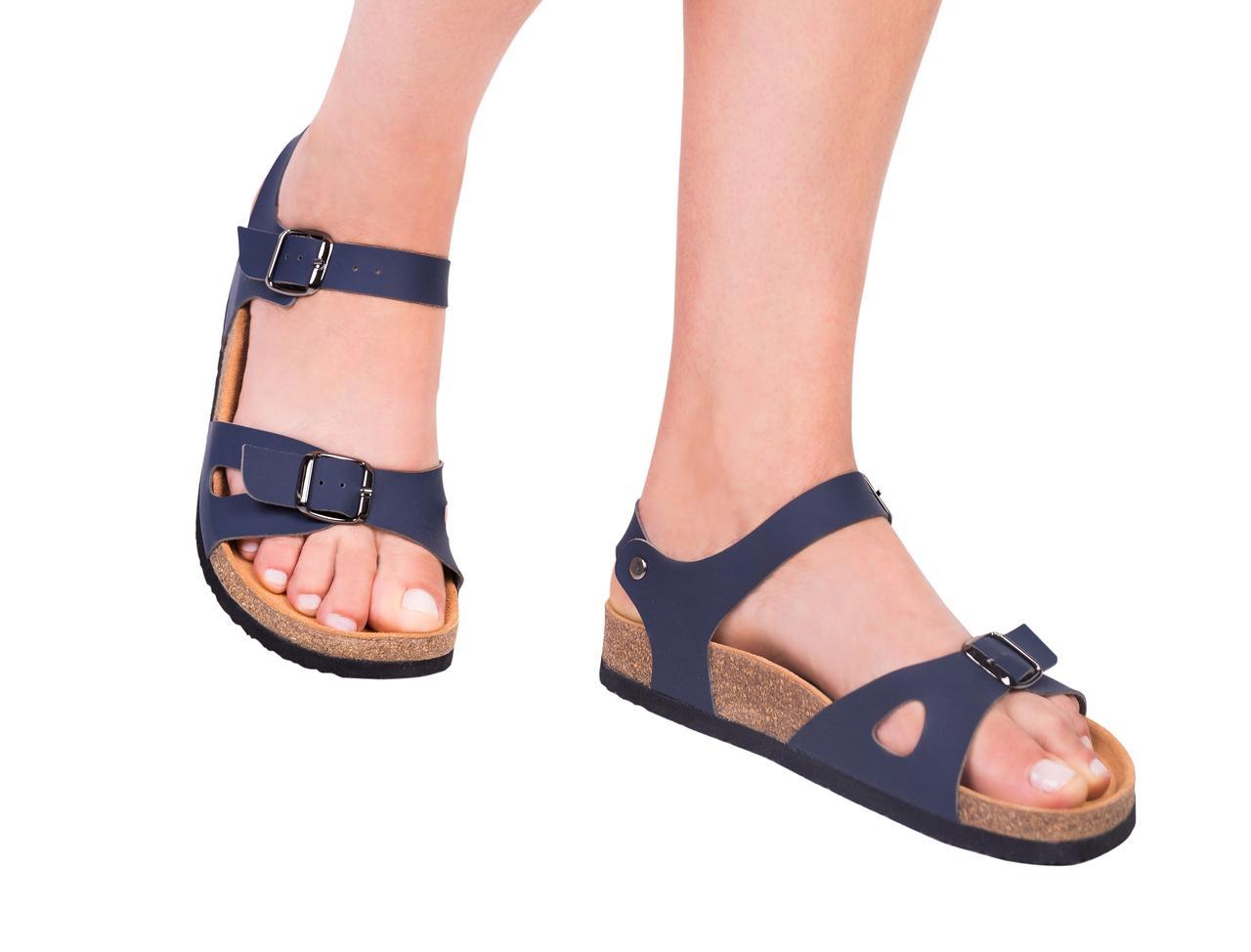 Анатомические сандалии FA-106 синие