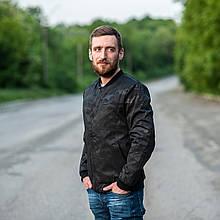 Чоловіча демісезонна куртка (бомбер), чорного кольору