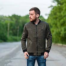 Чоловіча демісезонна куртка (бомбер), кольору хакі