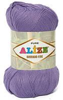 Пряжа Alize Bamboo Fine сиреневый №65 Бамбуковая для Ручного Вязания