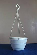 Горшок подвесной 3,7л (23х14см) с подвесом,белый