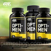 Вітаміни для чоловіків Optimum Nutrition Opti-Men 150 таб. ( США ), фото 3