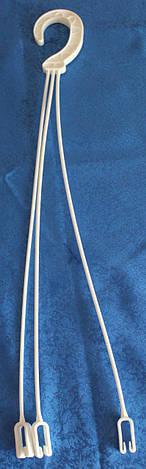 Горшок подвесной 5,4л (25х16см) с подвесом,белый, фото 2