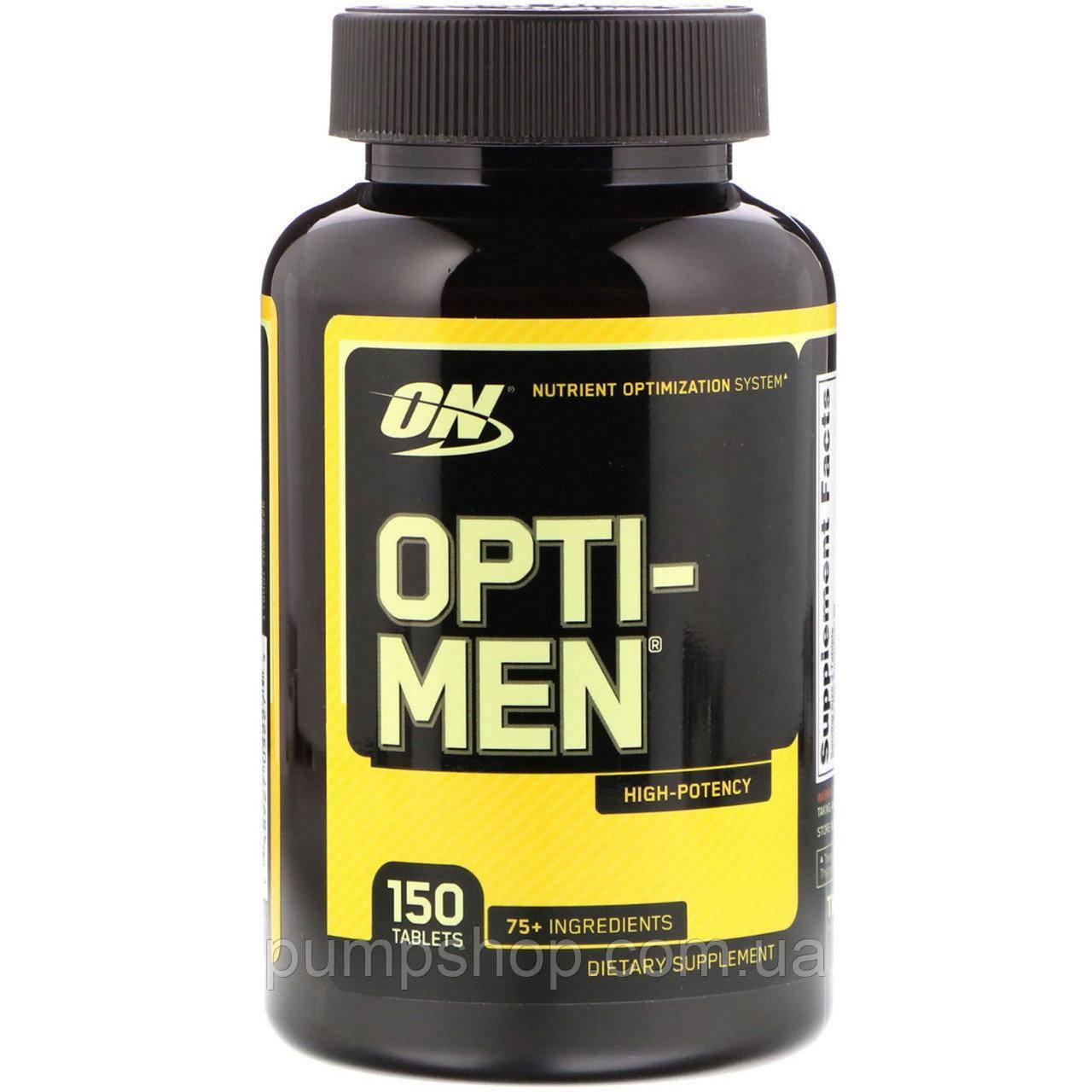 Вітаміни для чоловіків Optimum Nutrition Opti-Men 150 таб. ( США )