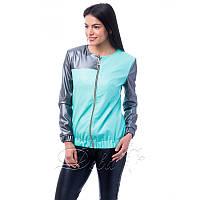 Куртка из эко кожи №225|Дева Размер:46; Цвет:Комбинированный