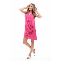 Платье на запах из вискозы №236|Дева Размер:42-44; Цвет:Малиновый