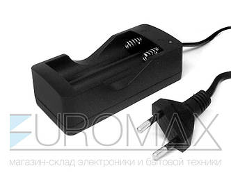 Зарядное устройство 220В 1000мАч 3,7В с сетевым шнуром на 2 аккумулятора 18650 200шт CHARGER-DOUBLE-