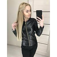 Лёгкая куртка из тонкой эко кожи №265|Дева Размер:44; Цвет:Черный