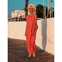 Платье из марлёвки №315 Размер:48-52; Цвет:Персик