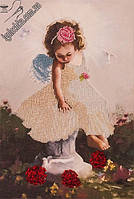 Набор для вышивания бисером FLF-005FLF-015Ангелочек с голубями20*30 Волшебная страна качественный , фото 1