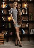 Сукня мод 559-4 розмір 42-44,44-46,46-48 сіре, фото 3