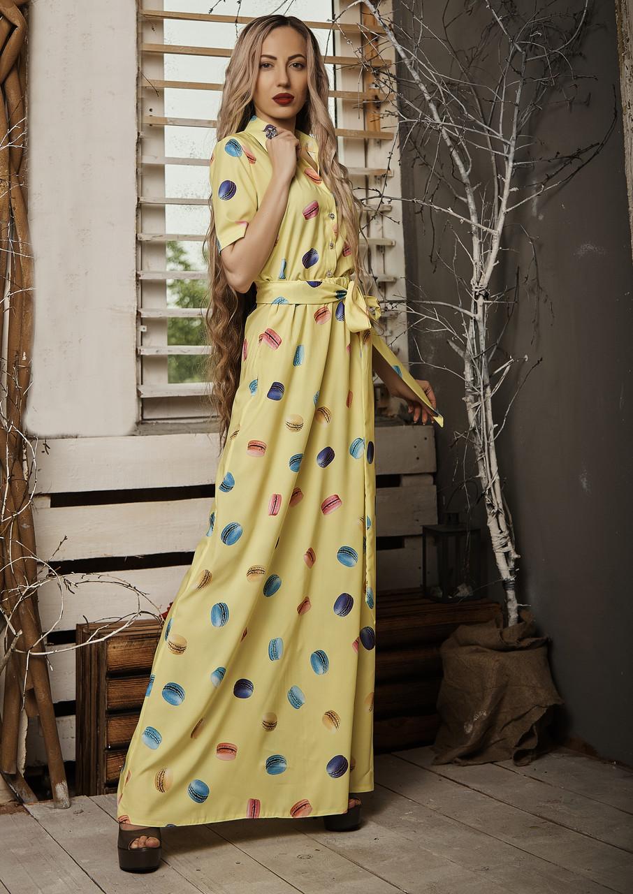 Платье мод 549-1 ,размер 42,44,46,48 желтое