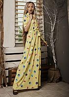 Платье мод 549-1 ,размер 42,44,46,48 желтое, фото 1