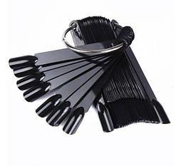 Веер на кольце (черный цвет, 50шт)