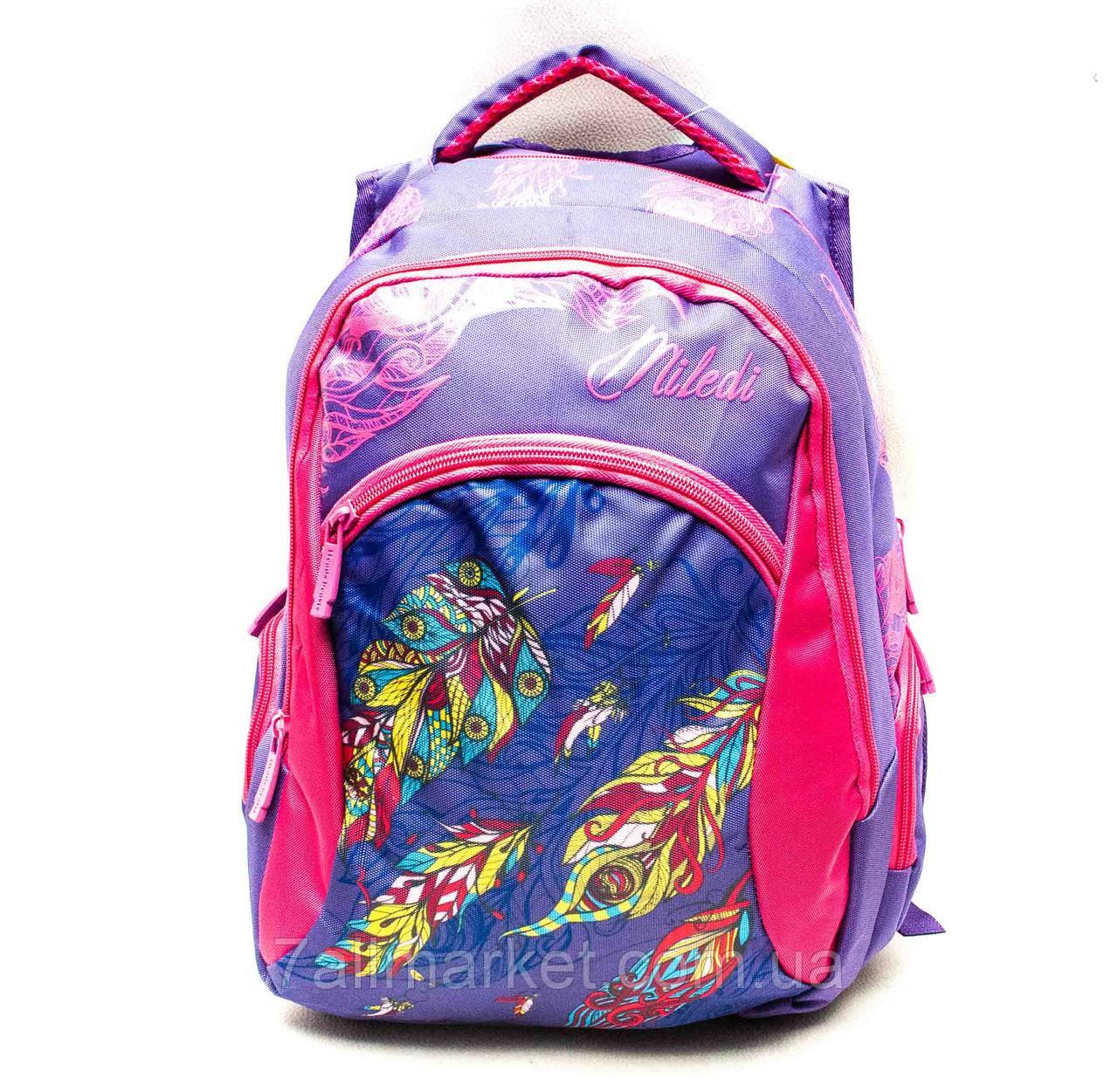 """Рюкзак школьный яркий для девочки MILEDI (38*30 см) (3 цв) """"SOFOCHKA"""" купить недорого от прямого поставщика"""