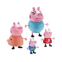 Набор фигурок Peppa - БОЛЬШАЯ СЕМЬЯ ПЕППЫ (Папа, Мама, Пеппа и Джордж)