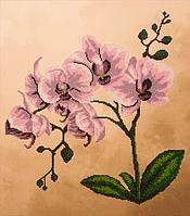 Набор для вышивания бисером FLF-018Розовая орхидея40*45 качественный