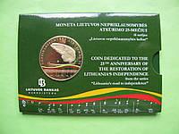 Литва 5 евро 2015 г. 25 лет независимости, фото 1