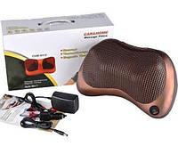 Массажная подушка для дома и машины массажёр Massage pillow 8028 с подогревом