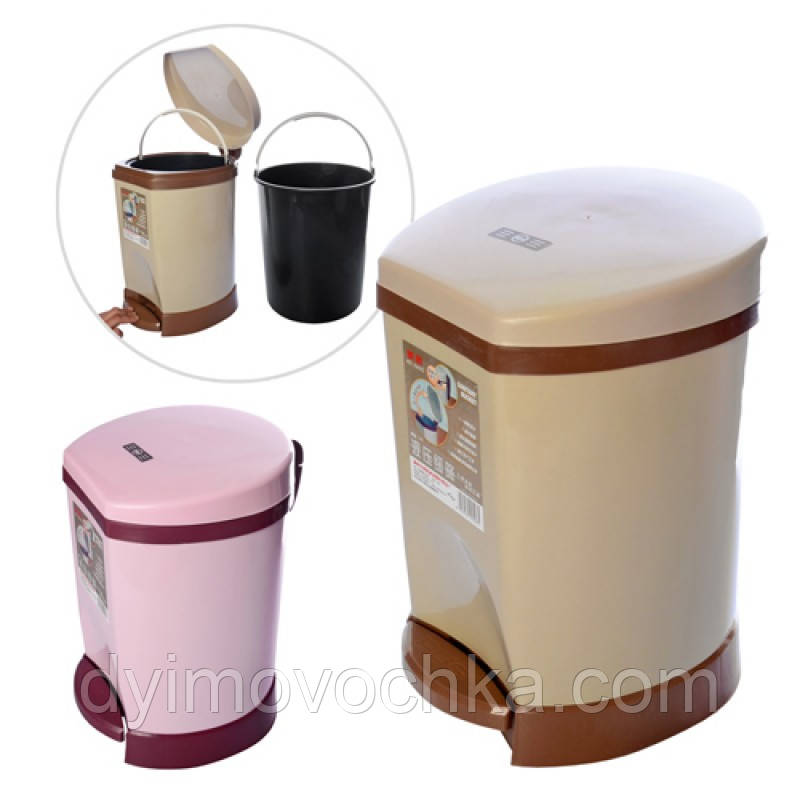 Ведро мусорное пластиковое R85417Firex, 10 литров