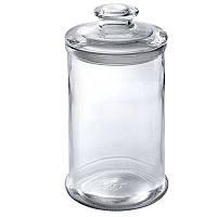 Емкость стеклянная для хранения сыпучих продуктов (банка с крышкой) 1721, 1,2литра