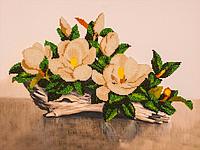 Качественный набор вышивки бисером на холсте FLF-019Белая орхидея30*40 качественный
