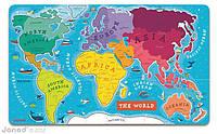 "Janod - магнитный пазл ""Карта мира"" (англ.язык), фото 1"
