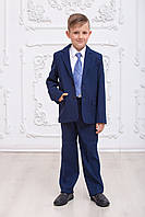 Школьная форма для мальчика СИНЯЯ пиджак+брюки 128,134,140,146см костюмная ткань