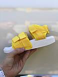 Женские сандалии Adidas Sandal yellow босоножки летние желтые. Живое фото. Сандалии 7 цветов!, фото 2
