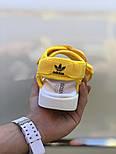 Женские сандалии Adidas Sandal yellow босоножки летние желтые. Живое фото. Сандалии 7 цветов!, фото 3