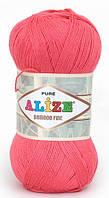 Пряжа Alize Bamboo Fine коралловый №560 Бамбуковая для Ручного Вязания