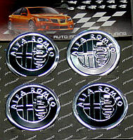 Комплект модельных наклеек на автомобильные диски, 4 шт., Alfa Romeo