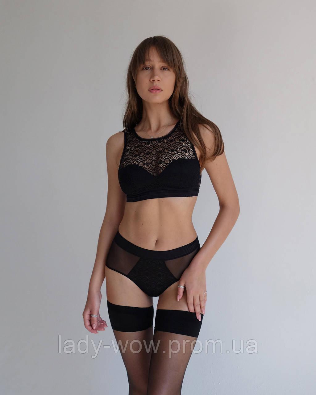 Кружевной набор нижнего белья Lora Iris (черный)