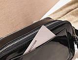 Сумка жіноча Camera Bag з блискітками і текстильним ремінцем в стилі Marc Jacobs (срібляста), фото 7