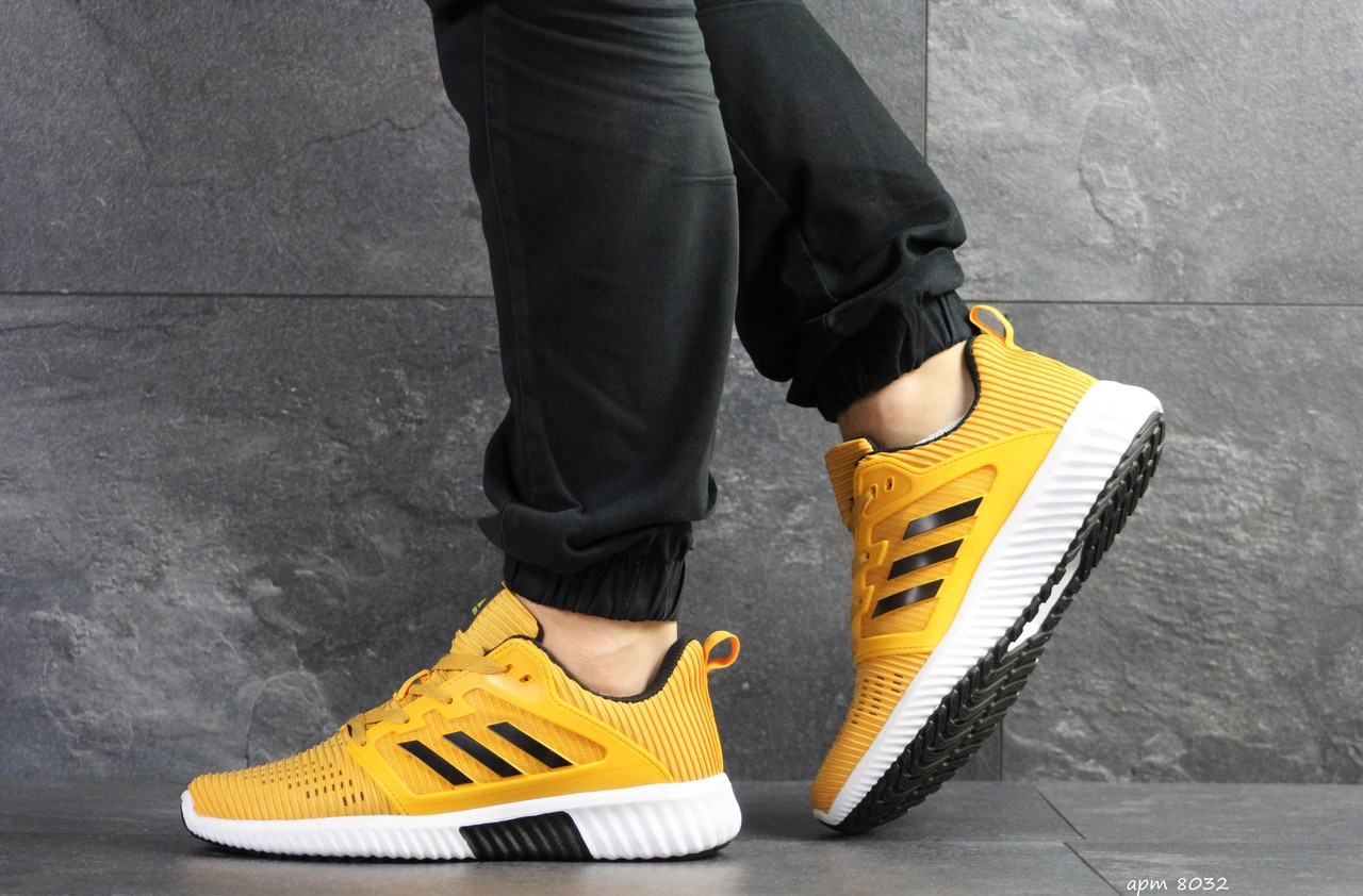 Кроссовки мужские Adidas ClimaCool,желтые
