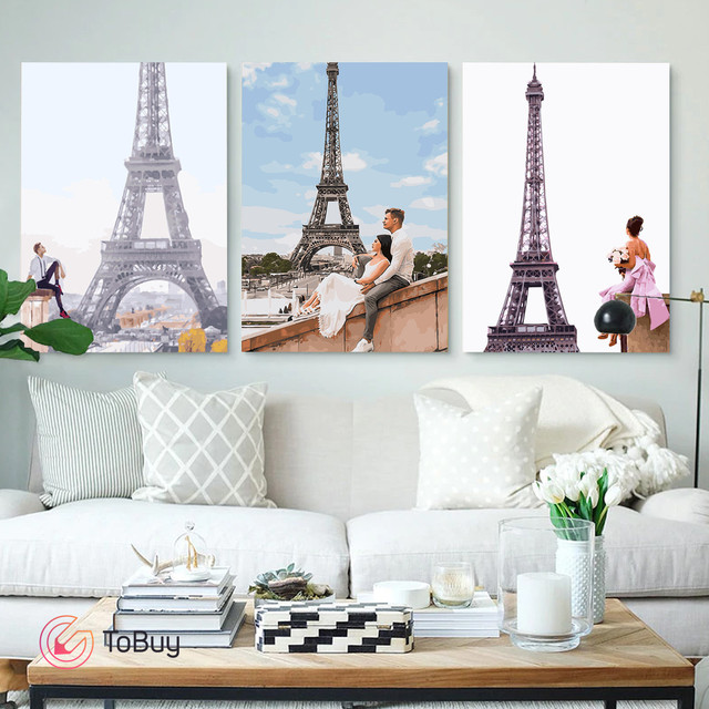 Размещение 3 картин по номерам на стене