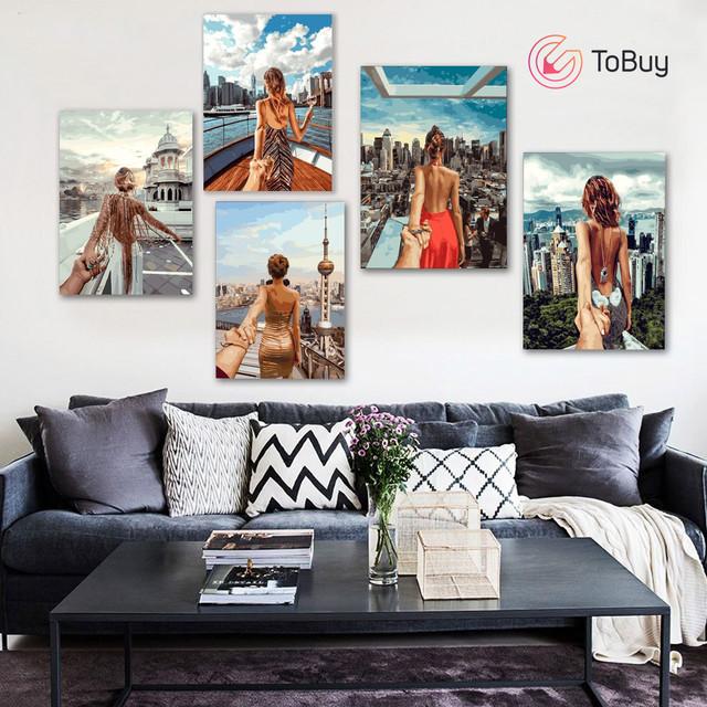 Размещение 5 картин по номерам на стене