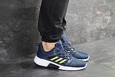 Кроссовки мужские Adidas ClimaCool,синие с салатовым, фото 2
