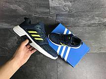 Кроссовки мужские Adidas ClimaCool,синие с салатовым, фото 3