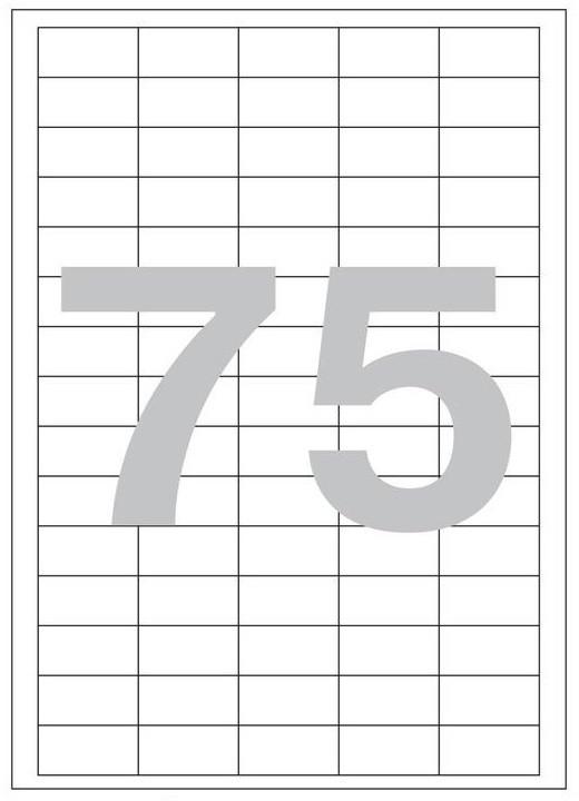 Этикетки самоклеящиеся 42×20мм - 75 шт на листе А4 (100 листов)