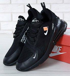 Мужские Кроссовки OFF-WHITE x Nike Air Max 270 Black